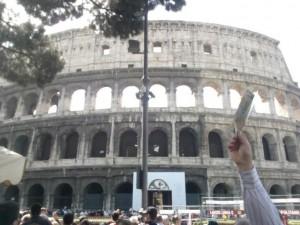 Le classi 1a, 2a, 3a P1 a Roma